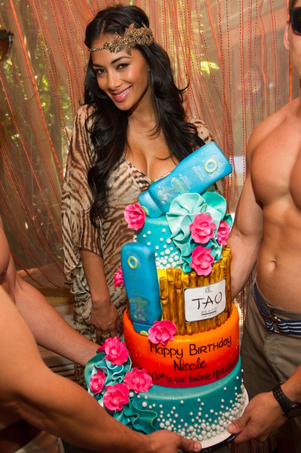 Nicole Scherzinger Celebrates Her Birthday At Tao Las