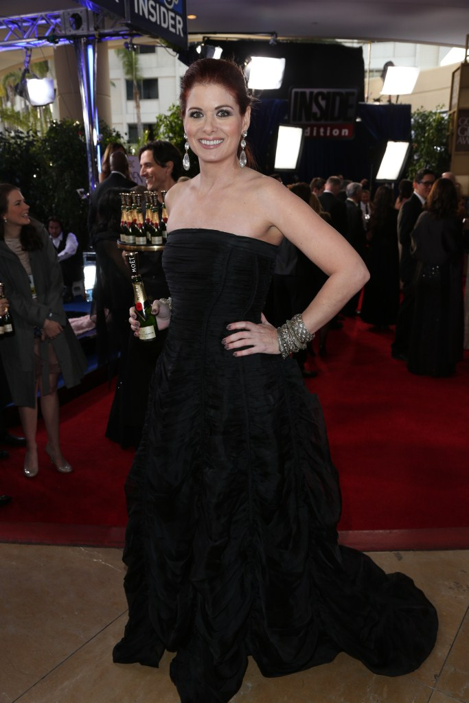 Debra Messing - Moët & Chandon at the 70th Annual Golden Globe Awards Red Carpet