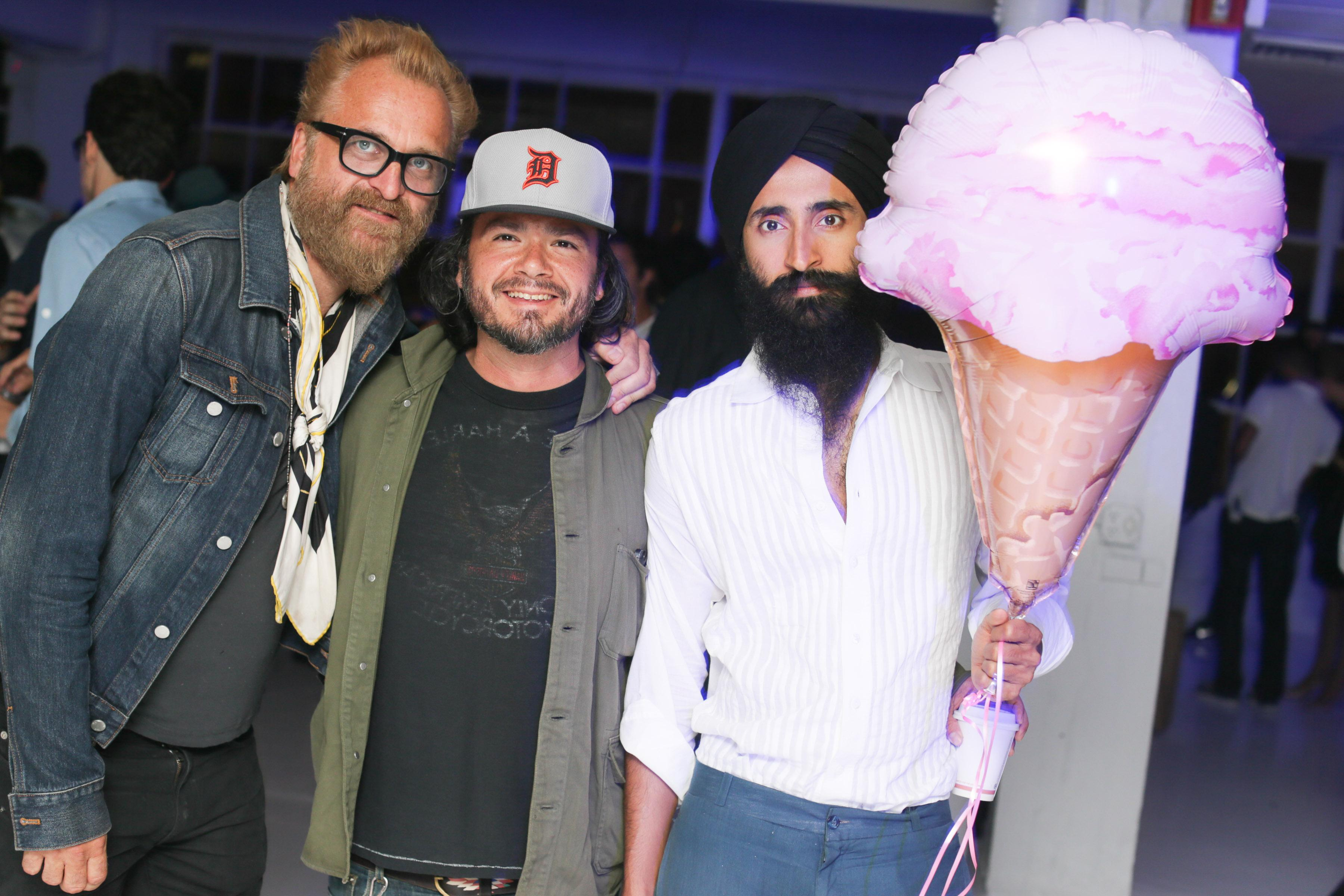 Johan Lindeberg, Carlos Quirarte, Waris Ahluwalia - CHELSEA LEYLAND'S Birthday Bash Presented by DKNY JEANS