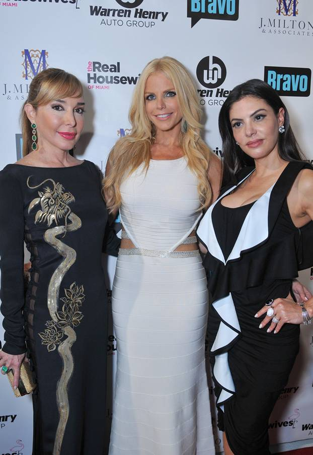 Marysol Patton, Alexia Echeverria and Ariana de Moura RHOM Premiere Party