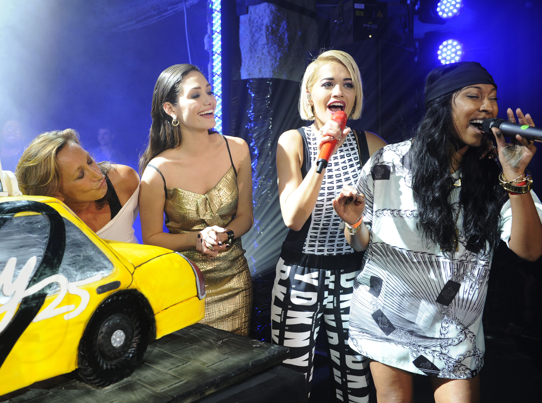 Donna Karan, Emmy Rossum, Rita Ora, & Melanie Fiona - #DKNY25 Birthday Bash