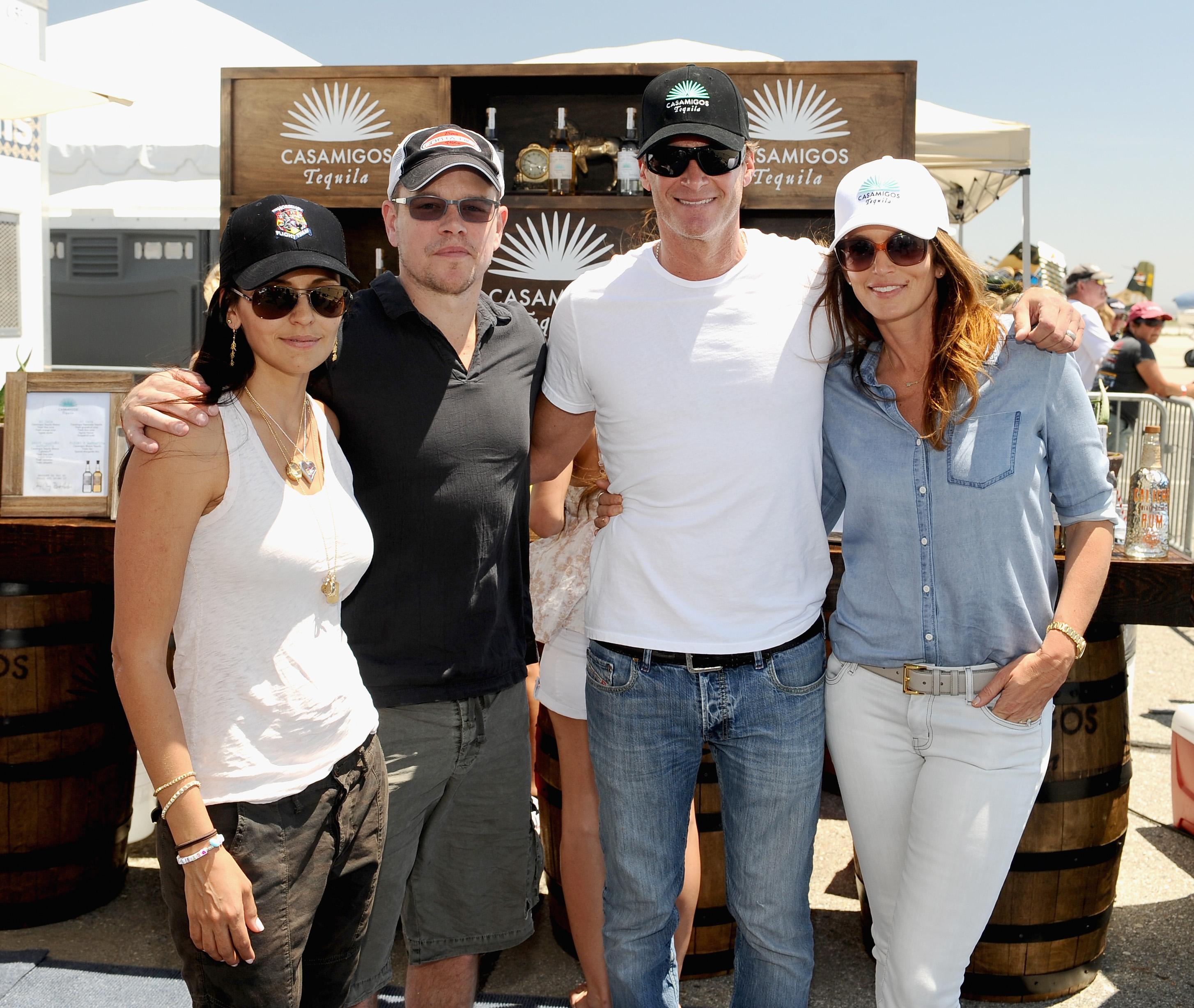 Luciana Barroso, actor Matt Damon, Rande Gerber and model/actress Cindy Crawford