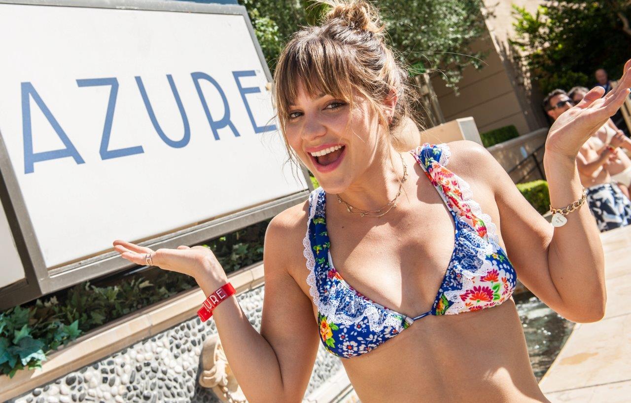 Katherine McPhee at AZURE Luxury Pool at the Palazzo Las Vegas