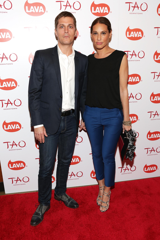 Rob Thomas & Marisol Maidonado at LAVA Lucky 13 Party at TAO Downtown