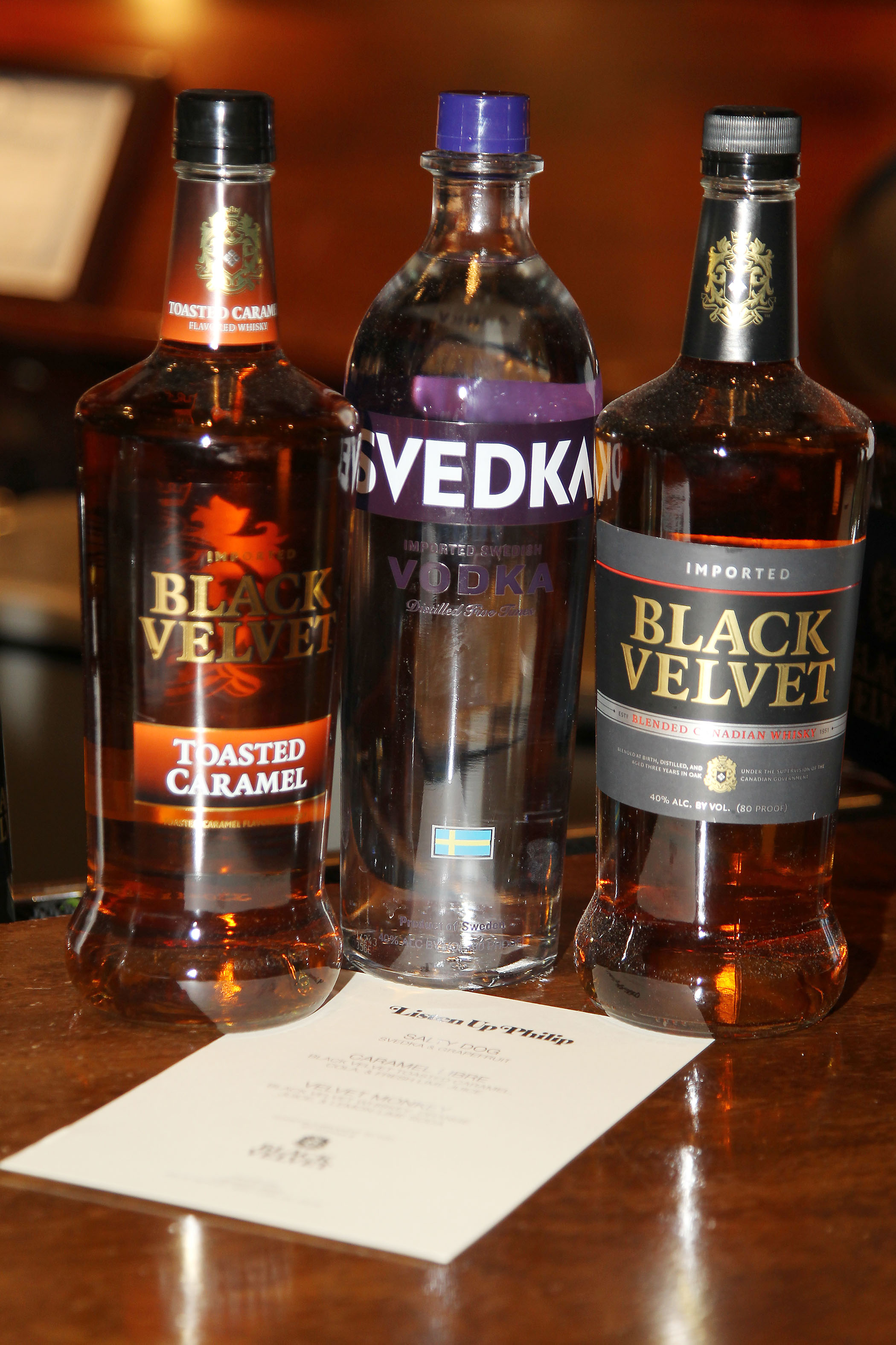 Black Velvet Whisky & SVEDKA Vodka