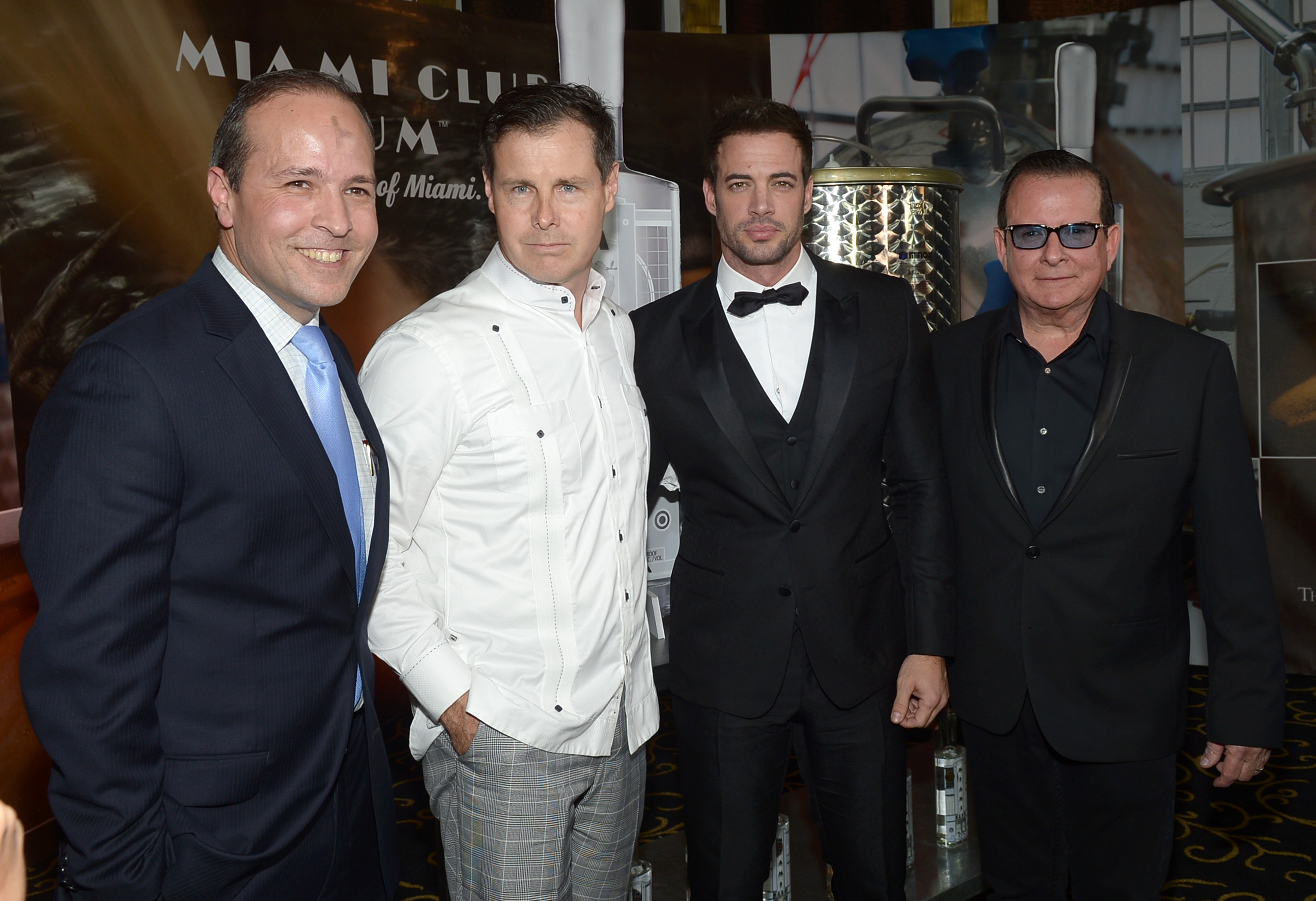 Miami Beach Fl February 18 Tomas Regalado Matt Malone William Levy And Hernan Echevarria Attend The Club Rum Official Partnership Launch With
