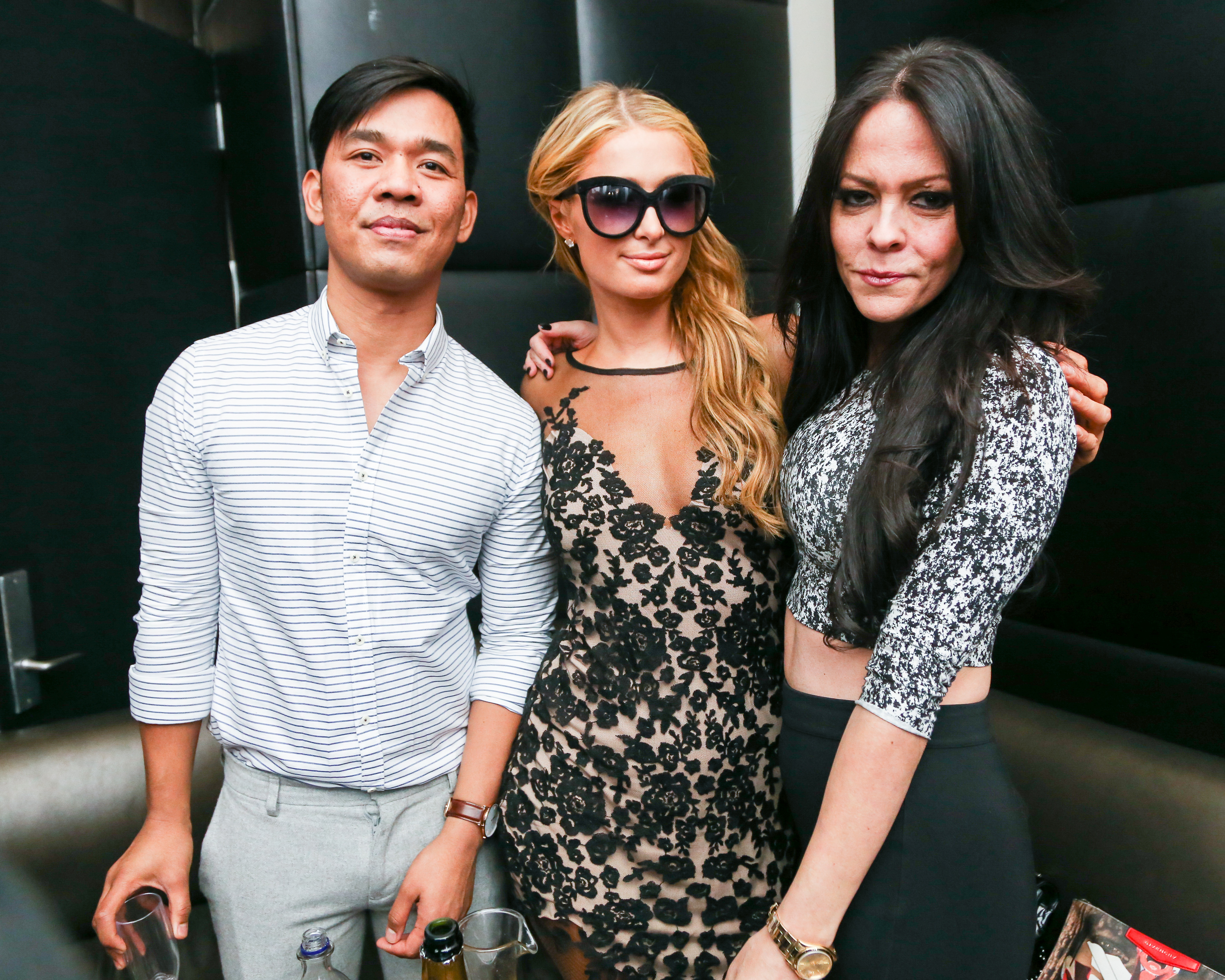 Renie Saliba, Paris Hilton, & Allison Melnick - ESSENTIAL HOMME's #EHNYFW and Spring Fashion Issue Launch Party