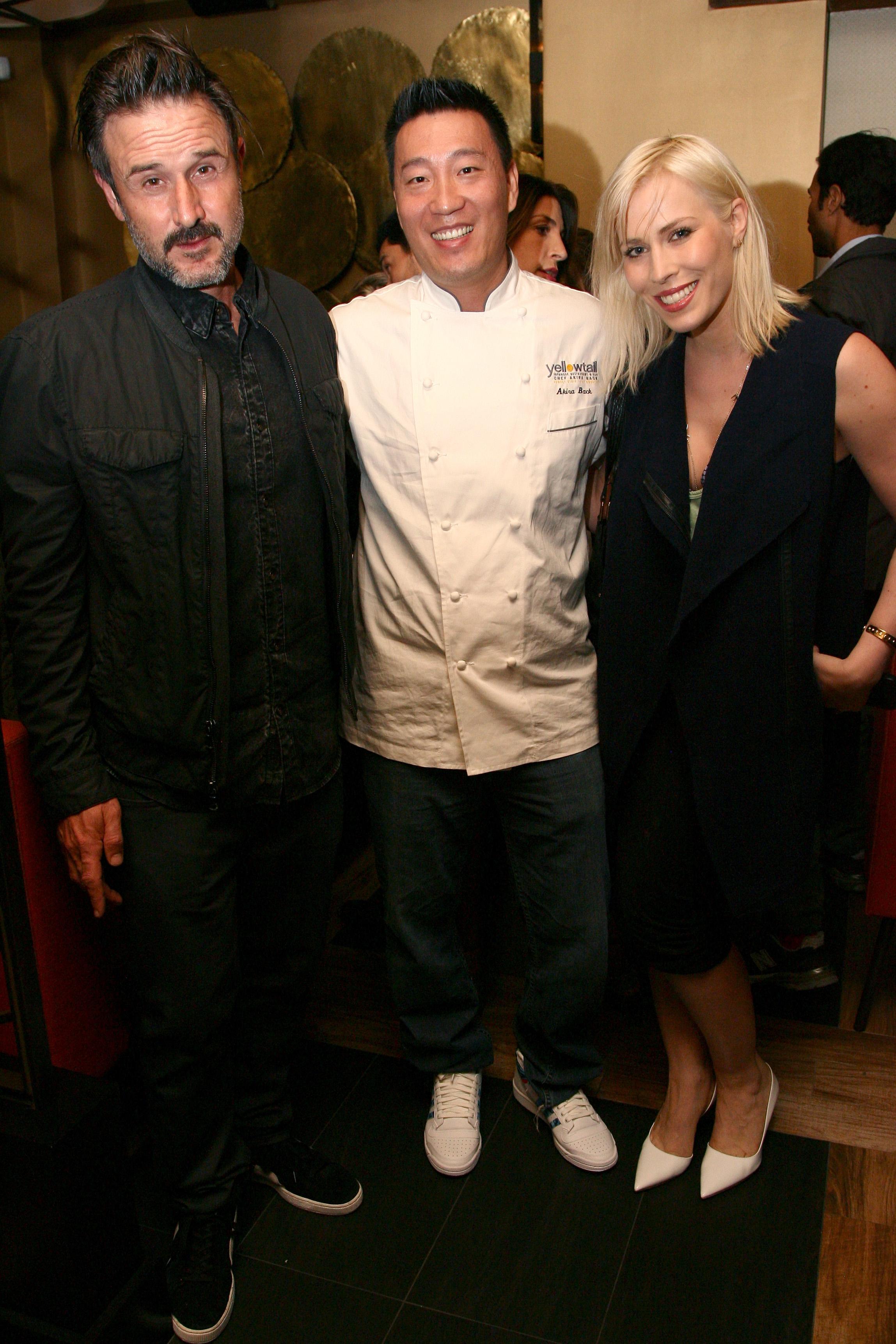 Actor David Arquette, chef Akira Back, and singer Natasha Bedingfield