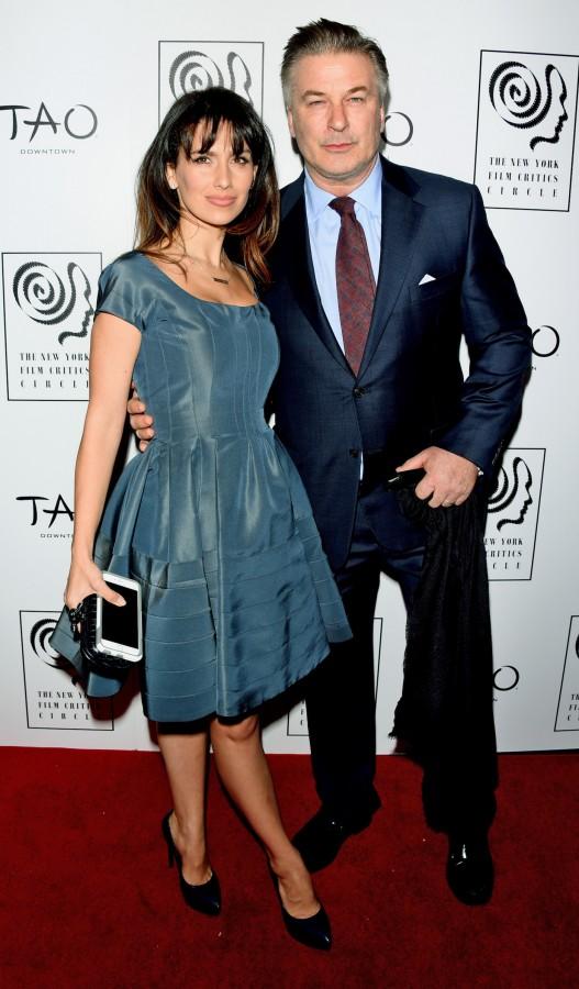 Alec Baldwin and Wife Hilaria Thomas at the New York Film Critics Circle Awards at TAO Downtown