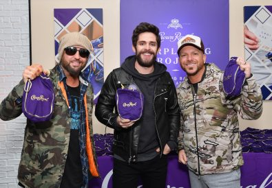 NASHVILLE, TN - NOVEMBER 13:  Thomas Rhett and LOCASH team up with the Crown Royal Purple Bag Project to assemble care packages for servicemen and women overseas on November 13, 2018 in Nashville, Tennessee.  (Photo by Erika Goldring/Getty Images for Crown Royal)