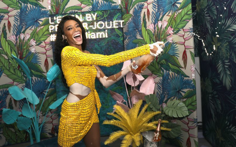 MIAMI BEACH, FL - DECEMBER 05:  Model Winnie Harlow attends L'Eden By Perrier-Jouët on December 5, 2018 in Miami Beach, Florida.  (Photo by Aaron Davidson/Getty Images for Perrier-JouÃ«)