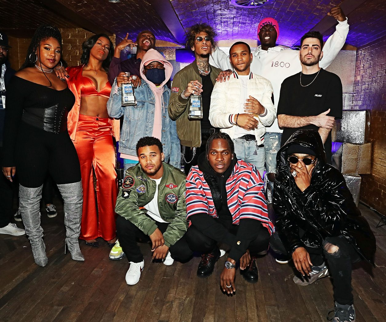 "NEW YORK, NY - DECEMBER 05:  Ant White, Cartel Count Up, Don Zio P, Hass Irv, Monalyse, Nita Jonez, Sam Austins, T Got Bank, Trevor Lanier, Tyler Thomas and Pusha-T attend Pusha-T and 1800 Tequila ""1800 Seconds"" Compilation Album Celebration Concert at Sony Hall on December 5, 2018 in New York City.  (Photo by Shareif Ziyadat/Getty Images) *** Local Caption *** Ant White; Cartel Count Up; Don Zio P; Hass Irv; Monalyse; Nita Jonez; Sam Austins; T Got Bank; Trevor Lanier; Tyler Thomas; Pusha-T"