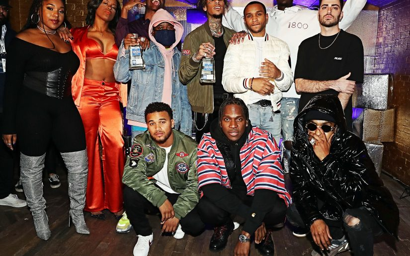 """NEW YORK, NY - DECEMBER 05:  Ant White, Cartel Count Up, Don Zio P, Hass Irv, Monalyse, Nita Jonez, Sam Austins, T Got Bank, Trevor Lanier, Tyler Thomas and Pusha-T attend Pusha-T and 1800 Tequila """"1800 Seconds"""" Compilation Album Celebration Concert at Sony Hall on December 5, 2018 in New York City.  (Photo by Shareif Ziyadat/Getty Images) *** Local Caption *** Ant White; Cartel Count Up; Don Zio P; Hass Irv; Monalyse; Nita Jonez; Sam Austins; T Got Bank; Trevor Lanier; Tyler Thomas; Pusha-T"""