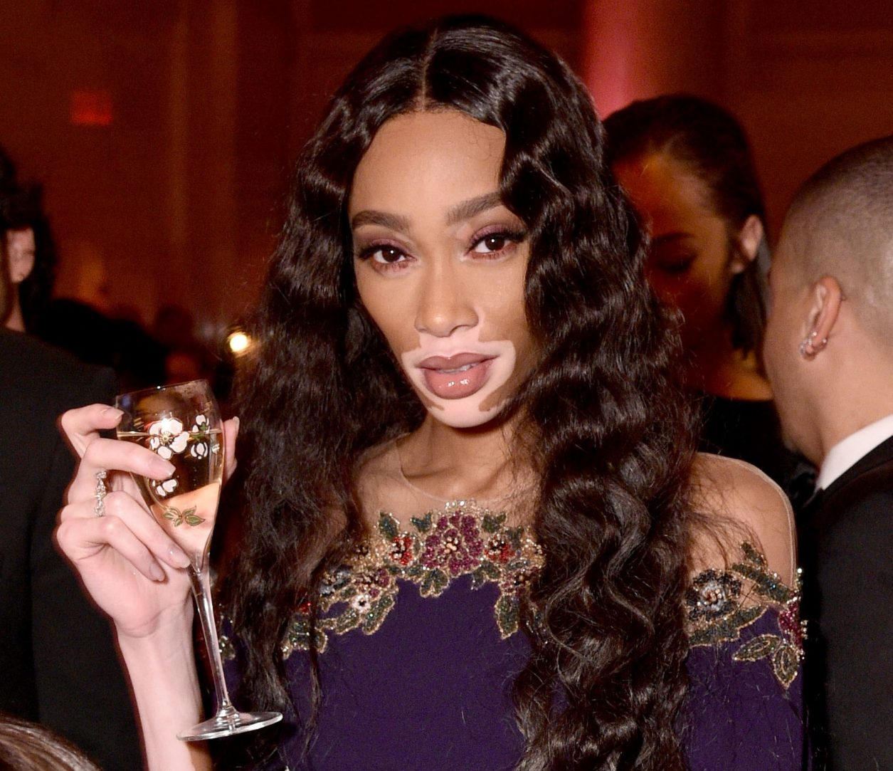 NEW YORK, NEW YORK - FEBRUARY 06: Winnie Harlow attends the amfAR Gala New York 2019 at Cipriani Wall Street on February 06, 2019 in New York City. (Photo by Bryan Bedder/Getty Images for Perrier-Jouët and Absolut Elyx)