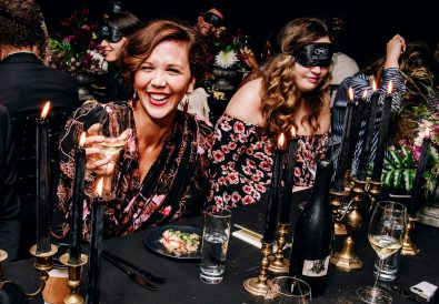 Maggie Gyllenhaal toasts at the debut of Eternally Silenced pinot noir by The Prisoner Wine Company Sept 24 2019 - CREDIT NINA WESTERVELT