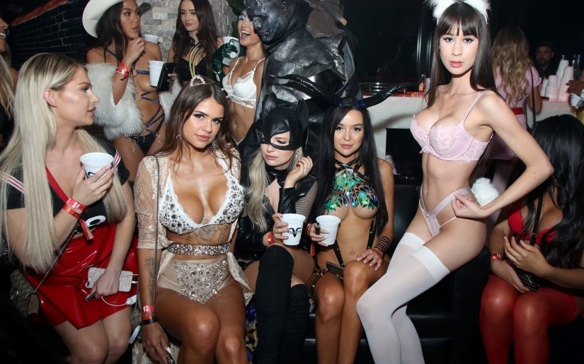 LOS ANGELES, CALIFORNIA - OCTOBER 24: Guests attend Dan Bilzerian's Halloween Party sponsored by Ignite International, Ltd., Alister, and BlitzBet on October 24, 2019 in Los Angeles, California. (Photo by Randall Michelson/Getty Images for Ignite International, Ltd., Alister, and BlitzBet)
