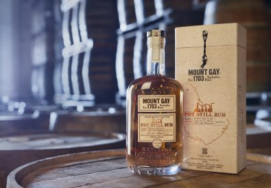 Mount Gay-Photo-Mount Gay Pot Still Rum - Bottle & GB in Cellars - MR