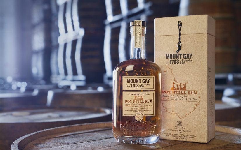Mount Gay-Photo-Mount Gay Pot Still Rum - Bottle & GB in Cellars - MR