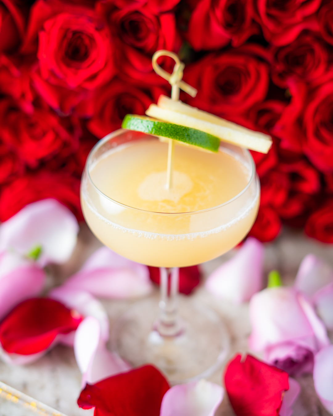 Winter Daiquiri, $18, Courtesy of David Jacobson for The Lobby Bar at Dream Downtown