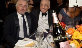 BEVERLY HILLS, CALIFORNIA - JANUARY 05: Robert De Niro and Martin Scorsese attend the 77th Annual Golden Globe Awards at The Beverly Hilton Hotel on January 05, 2020 in Beverly Hills, California. (Photo by Michael Kovac/Getty Images for Moët and Chandon )