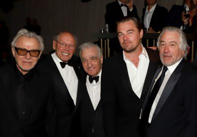 LOS ANGELES, CALIFORNIA - JANUARY 05: (L-R) Harvey Keitel, Irwin Winkler, Martin Scorsese, Leonardo DiCaprio, and Robert De Niro attend the Netflix 2020 Golden Globes After Party on January 05, 2020 in Los Angeles, California. (Photo by Arnold Turner/Getty Images for Netflix)
