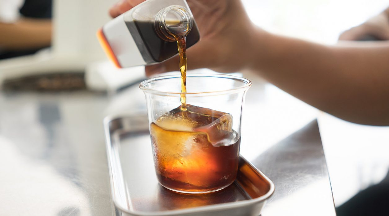 afternoon drink with Cold Brew Coffee with Cute glass