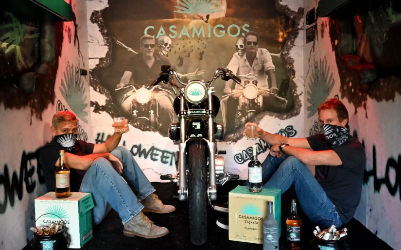 George Clooney and Rande Gerber prepare Casamigos Halloween comes to you - photo credits - Courtesy of Casamigos Kevin Mazur for Casamigos