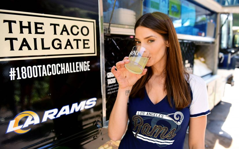 LOS ANGELES, CALIFORNIA - OCTOBER 26: (EDITORS NOTE: This image has been retouched) (L-R) Paul Khoury and Ashley Greene attend 1800 Tequila and Ashley Greene Host the Ultimate at-Home Tailgate With 1800 LA Rita Cocktails Ahead of the LA Rams Game on Monday Night Football on October 26, 2020 in Los Angeles, California. (Photo by Matt Winkelmeyer/Getty Images for 1800 Tequila)