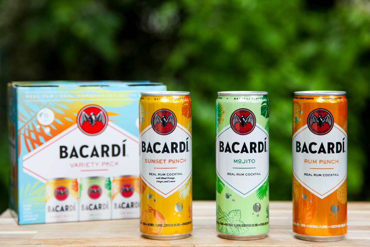 BACARDI Real Rum Canned Cocktails Variety Pack Flavors